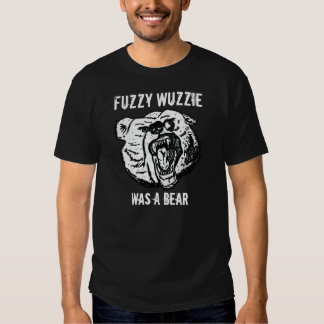 Fuzzy Art front - Title rear Shirts