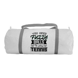 FUZZY BALLS for TENNIS (Blk) Gym Bag