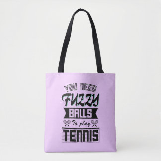 FUZZY BALLS for TENNIS (Blk) Tote Bag