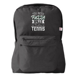 FUZZY BALLS for TENNIS (Wht) Backpack