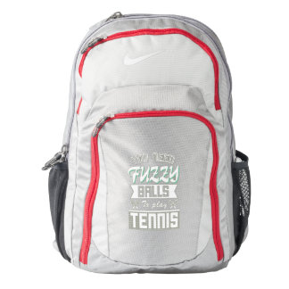 FUZZY BALLS for TENNIS (Wht) Nike Backpack
