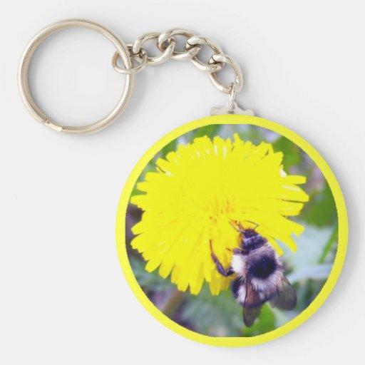 Fuzzy Bee Key Chain