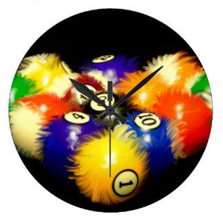 Fuzzy Billiards Wall Clock