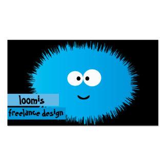 Fuzzy Blue Critter Business Card
