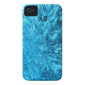 Fuzzy Blue Faux Fur Blackberry Case