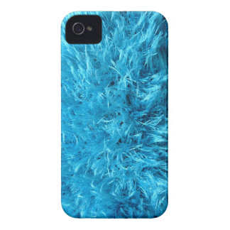 Fuzzy Blue Faux Fur iPhone 4 Cover