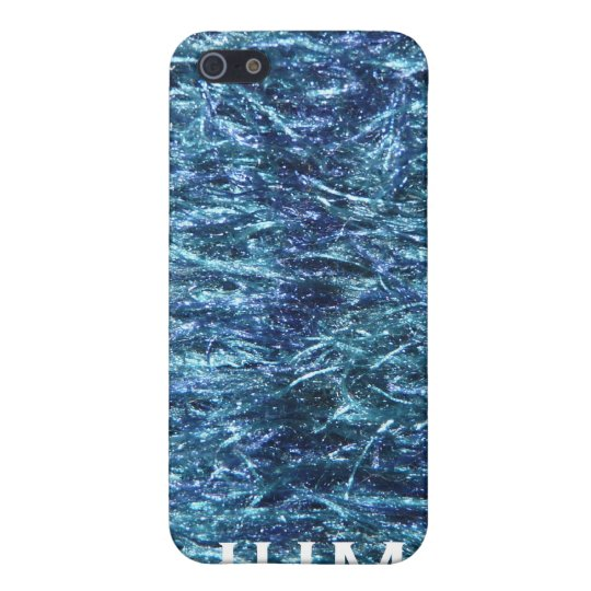 Fuzzy Blue for Stylish Guys iPhone SE/5/5s Cover