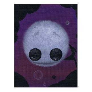 fuzzy bubble ball postcard