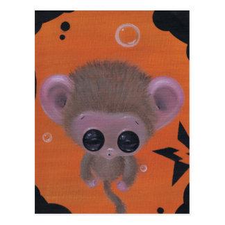 fuzzy bubble monkey postcard