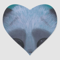 panda, sugar, fueled, sugarfueled, coallus, michael, banks, teal, fuzzy, bigeye, Sticker with custom graphic design