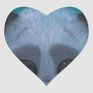 Fuzzy Bubble Panda Heart Stickers