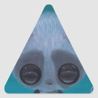Fuzzy Bubble Panda Triangle Sticker