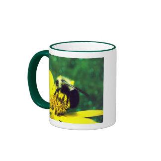 Fuzzy Bumblebee Photo Ringer Coffee Mug
