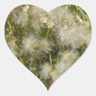 Fuzzy Bush Heart Sticker