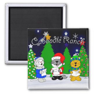 'Fuzzy Carolers' Magnet