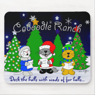 'Fuzzy Carolers' Mouse Pad
