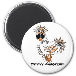Fuzzy Chicken Magnet