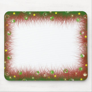 Fuzzy Christmas Border Mouse Pad
