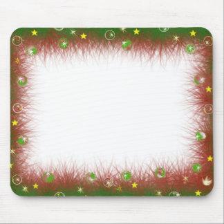 Fuzzy Christmas Border Mousepad