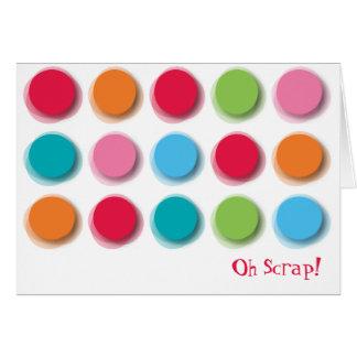 Fuzzy Color Dots Fun Invitation/ Announcement Card
