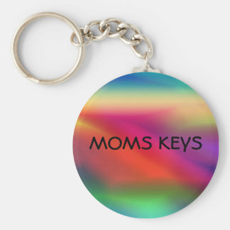 Fuzzy Color Graphic Keychain