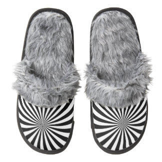 Fuzzy custom gray slippers pair of fuzzy slippers