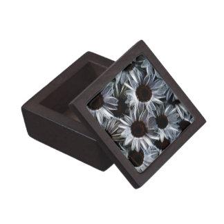Fuzzy daisies jewelry box
