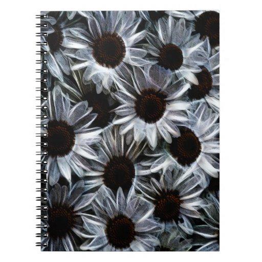 Fuzzy daisies notebook