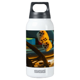 Fuzzy Dice Insulated Water Bottle
