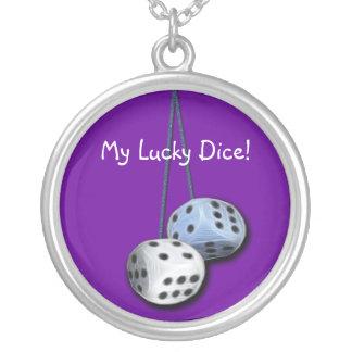 Fuzzy Dice Necklace
