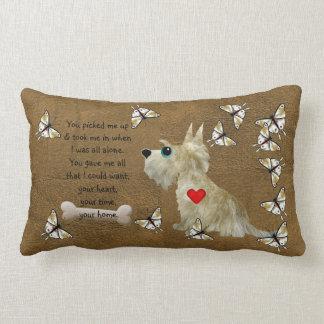 Fuzzy Dog Poem Lumbar Pillow