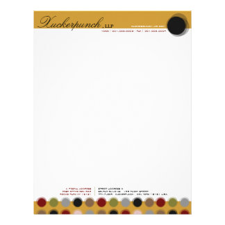 Fuzzy Dots 01 Modern Designer Custom Letterhead
