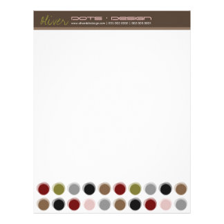 Fuzzy Dots 01 Modern Designer Template Letterhead