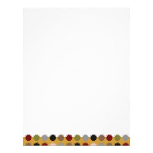 Fuzzy Dots 01 Modern Follow Page Letterhead