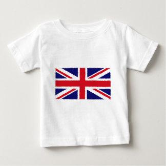 Fuzzy Edge Painted United Kingdom Union Jack Flag Baby T-Shirt