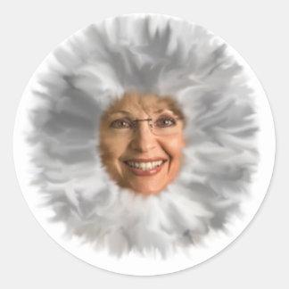 Fuzzy Face Classic Round Sticker