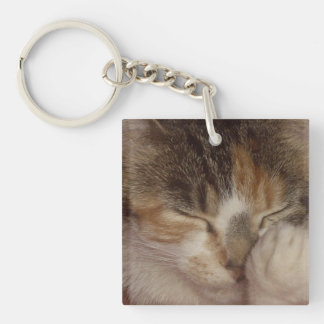 Fuzzy Face Keychain