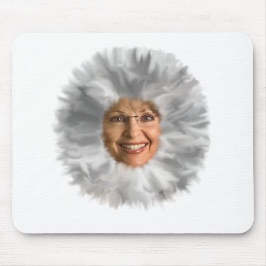 Fuzzy Face Mouse Pad
