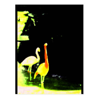 """Fuzzy Flamingo"" JTG Art Postcard"
