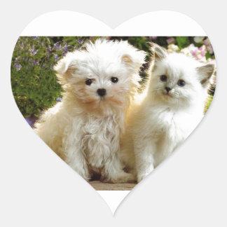 Fuzzy Friends Heart Sticker