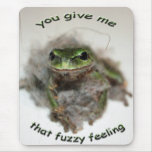 FUZZY FROG MOUSE PAD