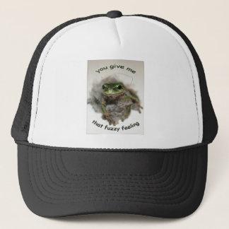 FUZZY FROG TRUCKER HAT