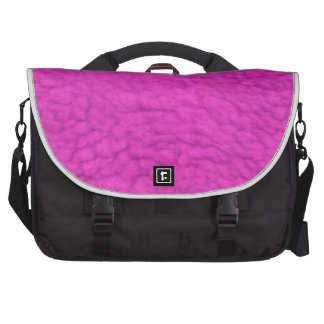 FUZZY FUNKY PINK COTTEN CANDY POOFY TEXTURE BACKGR LAPTOP BAGS