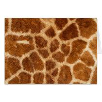 Fuzzy Giraffe Fur Pattern