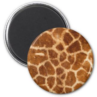 Fuzzy Giraffe Fur Pattern 2 Inch Round Magnet