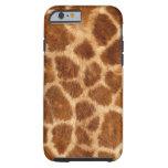 Fuzzy Giraffe Fur Pattern iPhone 6 Case