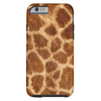 Fuzzy Giraffe Fur Pattern Tough iPhone 6 Case