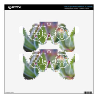 Fuzzy Green Succulent Leaves Macro PS3 Controller Decal