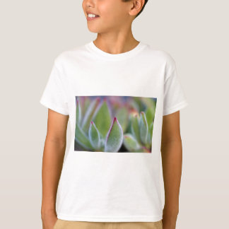 Fuzzy Green Succulent Leaves Macro T-Shirt