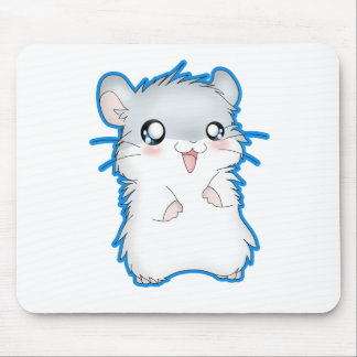 Fuzzy Hamster Mouse Pad